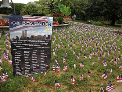 Annual 9-11 monument on campus