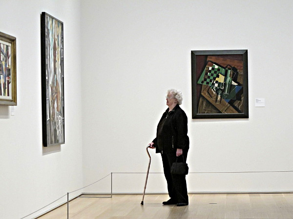 My mother at Chicago Art Institute