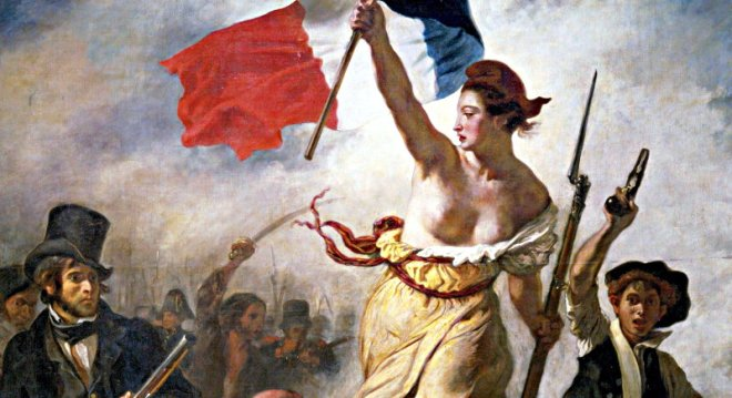 Delacroix Liberty Leading The People detail