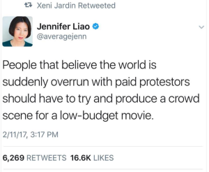 Tweet by Jennifer Liao