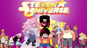 Some of the enormous cast of Steven Universe