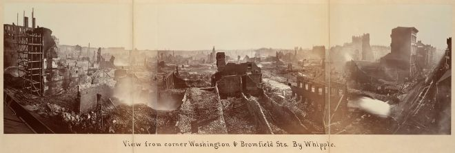 Boston after 1872 fire