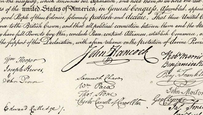 Detail, Declaration Of Independence